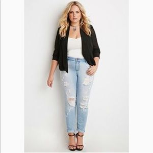 NWT Forever 21 plus open front blazer